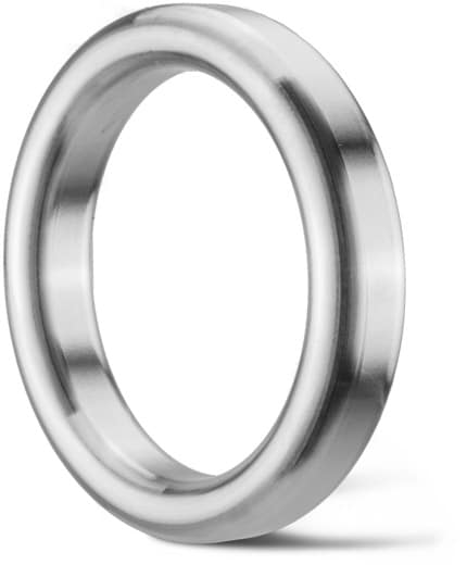 Deutsch: Abbildung zeigt Edelstahl Ring Joint Dichtung in ovaler Bauform 001RJD. English: Picture displays a stainless steel seal with an oval cross section type 001RJD.