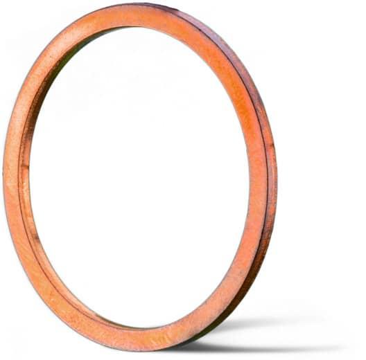 Deutsch: Abbildung zeigt einen Metalldichtring aus dem Grundmaterial Kupfer für Hochdruckanwendungen.
