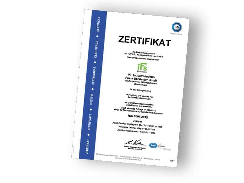 DIN-ISO-9001-Zertifikat